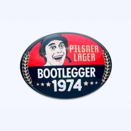 BOOTLEGGER 1974 PILSNER OVAL LENS