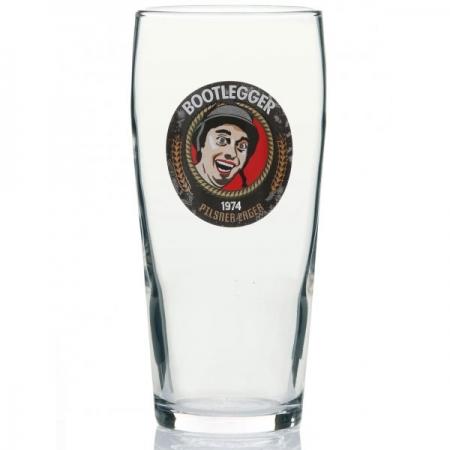 BOOTLEGGER 1974 PILSNER PINT GLASS