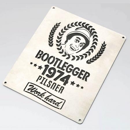BOOTLEGGER 1974 PILSNER PLAQUE