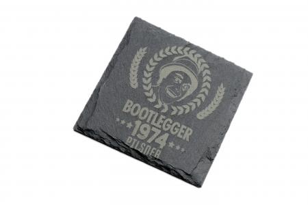 BOOTLEGGER PILSNER SLATE COASTER SQ