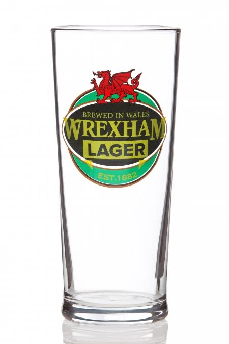 WREXHAM LAGER PINT GLASS